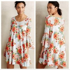 Anthropologie Rifle Paper Fluttered Blooms Dress